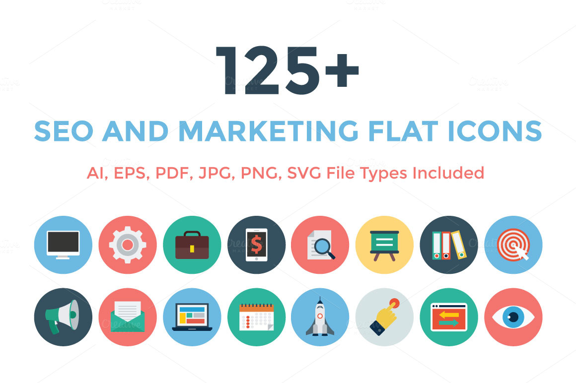 125-Seo-and-Marketing-Flat-Icons