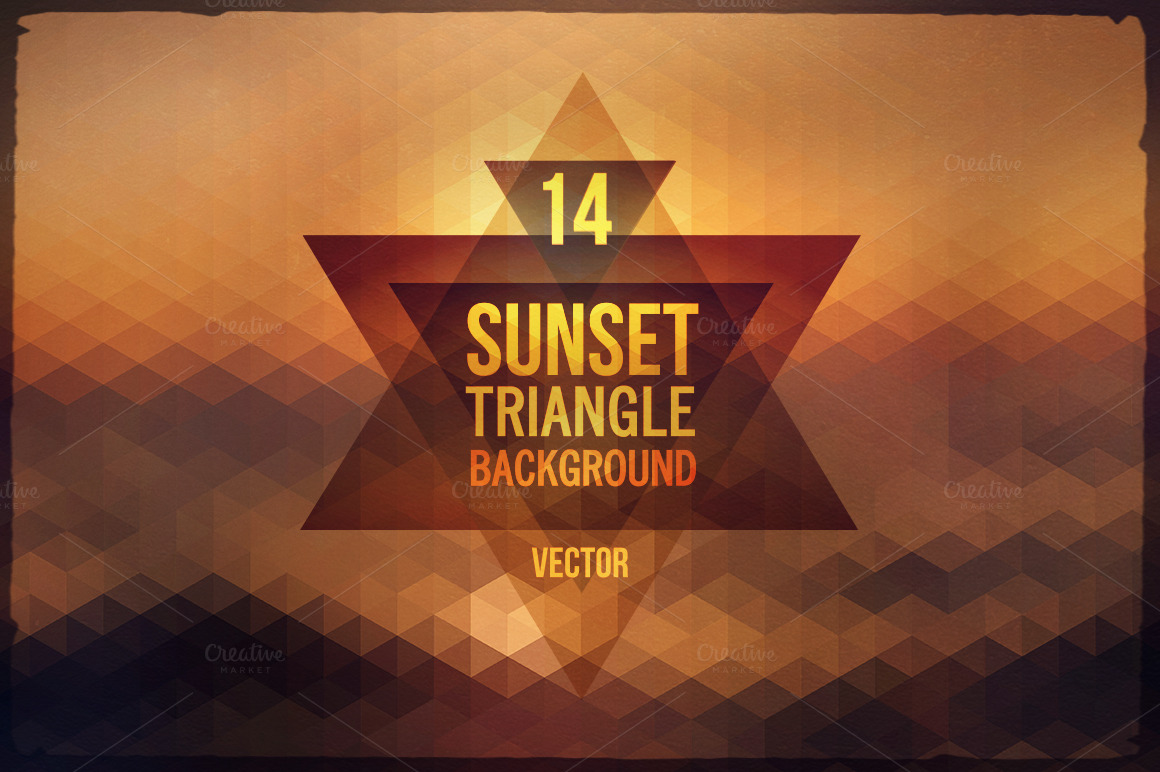 14-Sunset-Triangle-Backgrounds