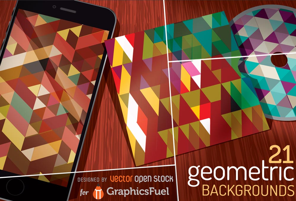 21-free-vector-geometric-backgrounds