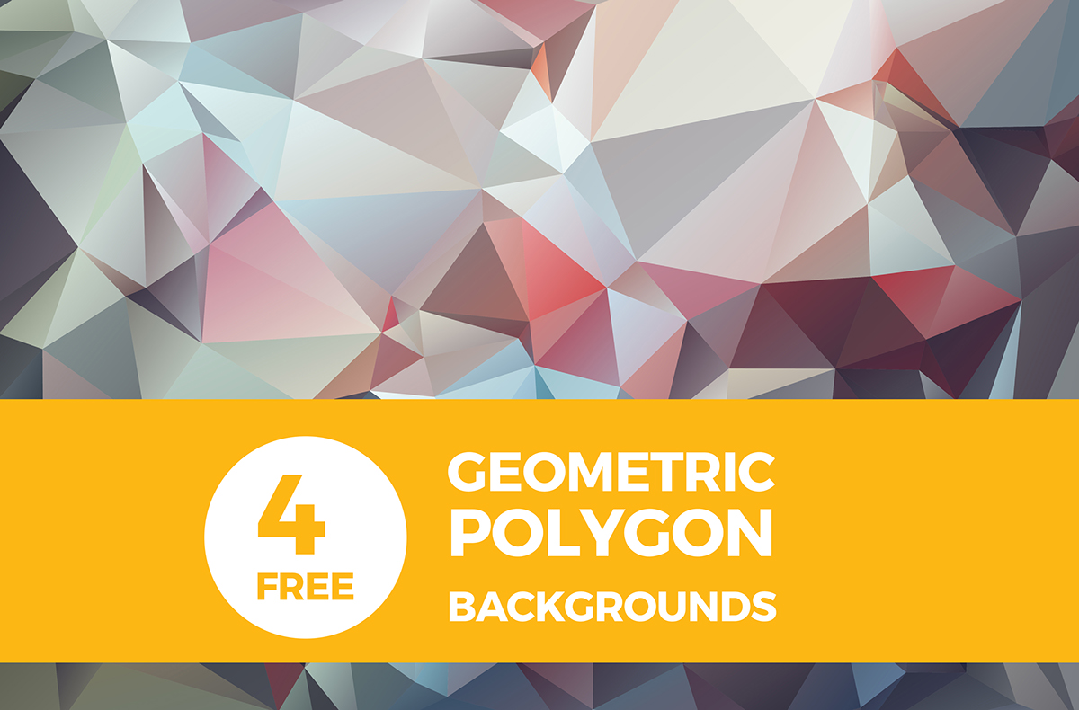 4-geometric-polygon-backgrounds