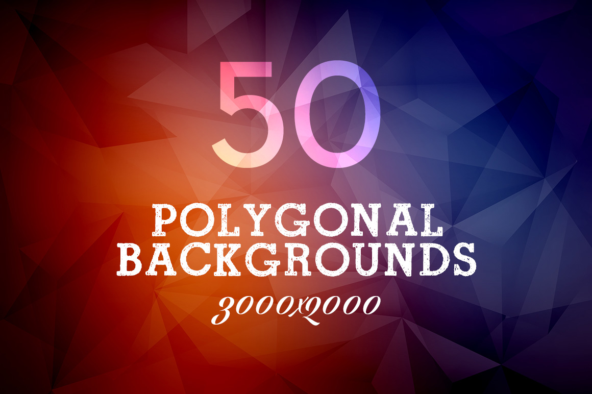 50-Polygonal-Colourful-Backgrounds