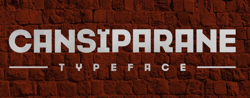 Cansiparane-Typeface