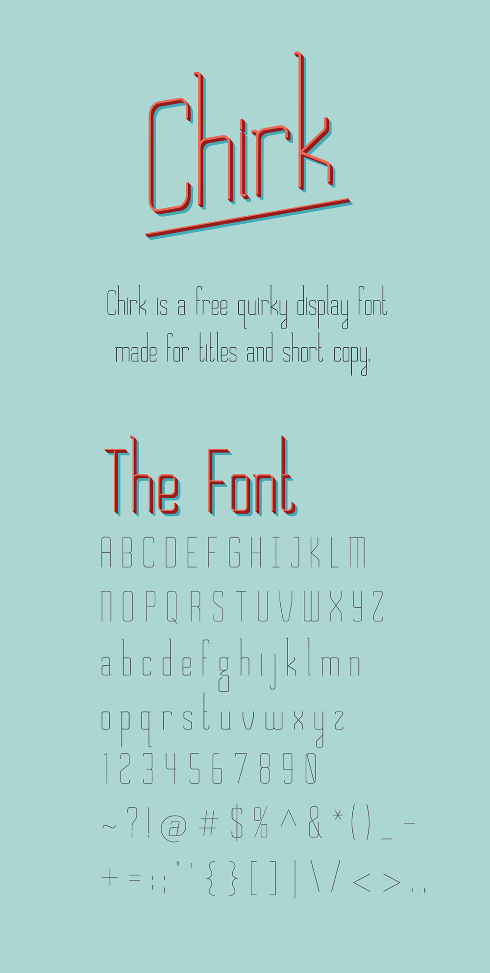 Chirk-Free-Display-Font