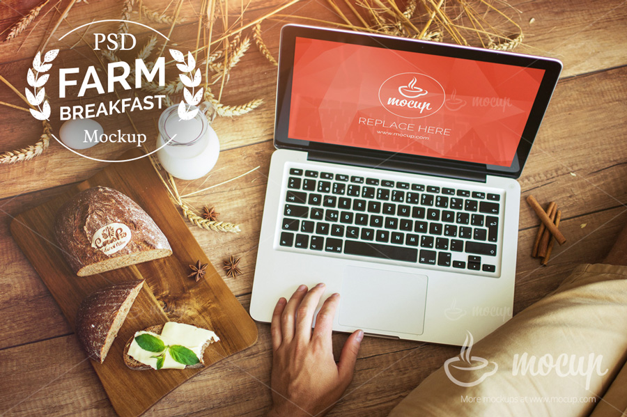 Farm-Breakfast-PSD-Macbook-Mockup