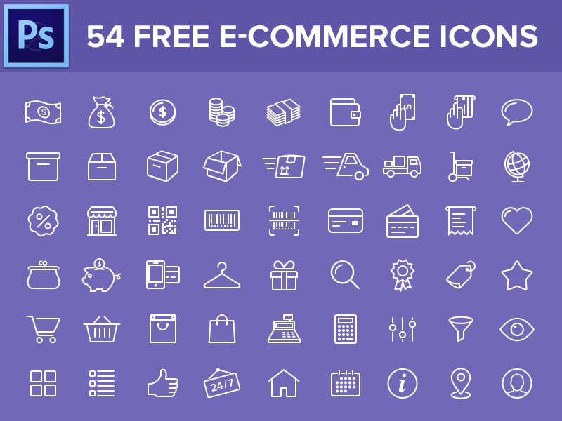 Free-E-Commerce-Icons-PSD