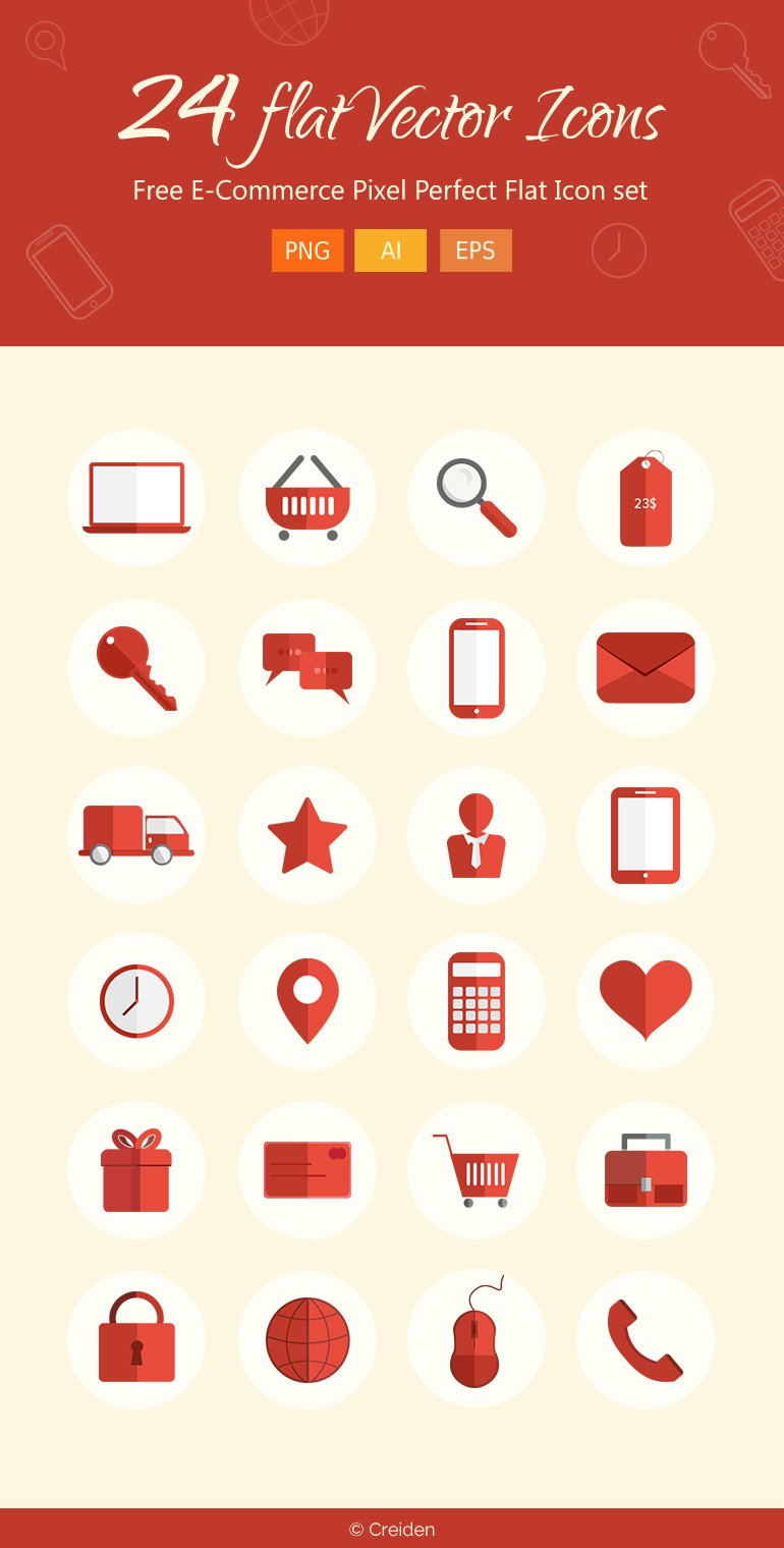 Free-E-Commerce-Pixel-Perfect-Flat-Icons