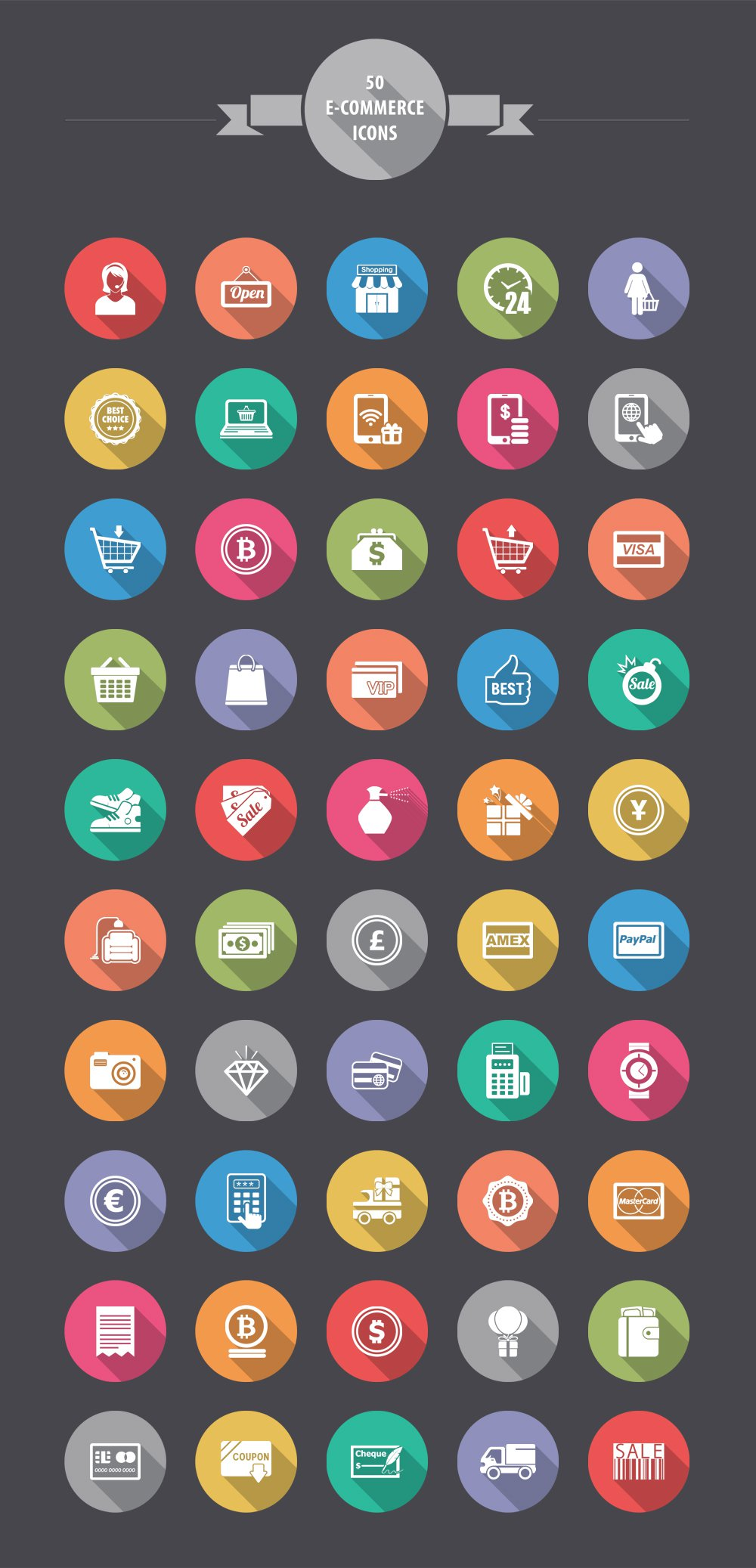 Free-E-commerce-Shopping-Icons