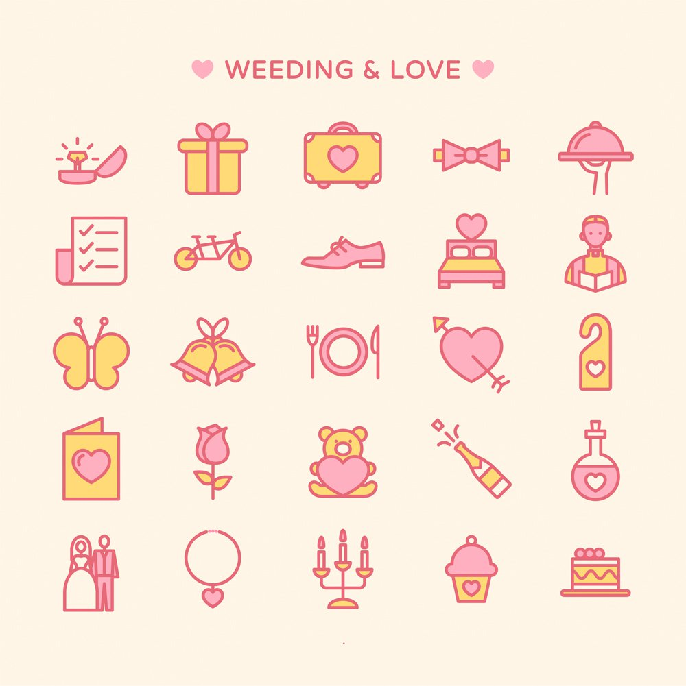 Free-Love-and-Wedding-Icons