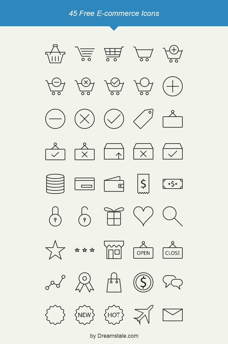 Free-Outline-E-commerce-Icons