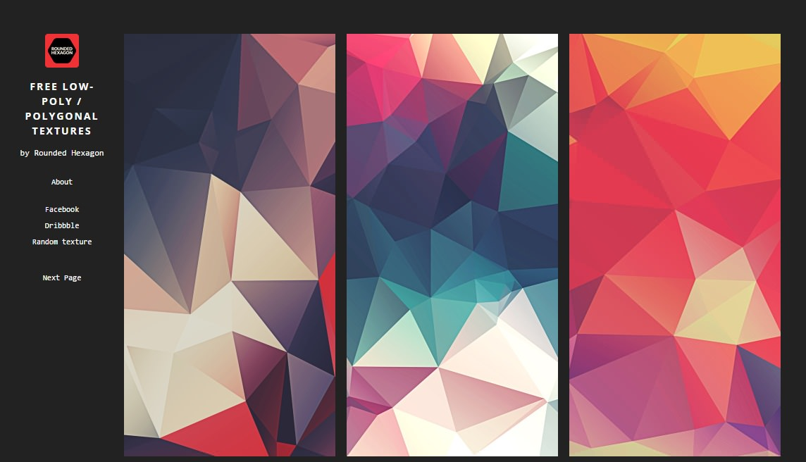 Free-low-poly-polygonal-textures-website