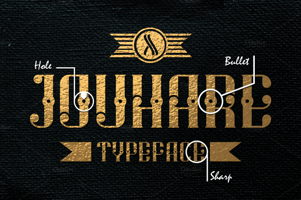 Jouhare-Vintage-Typeface