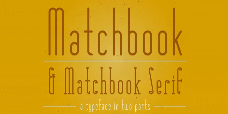 Matchbook-Typefaces