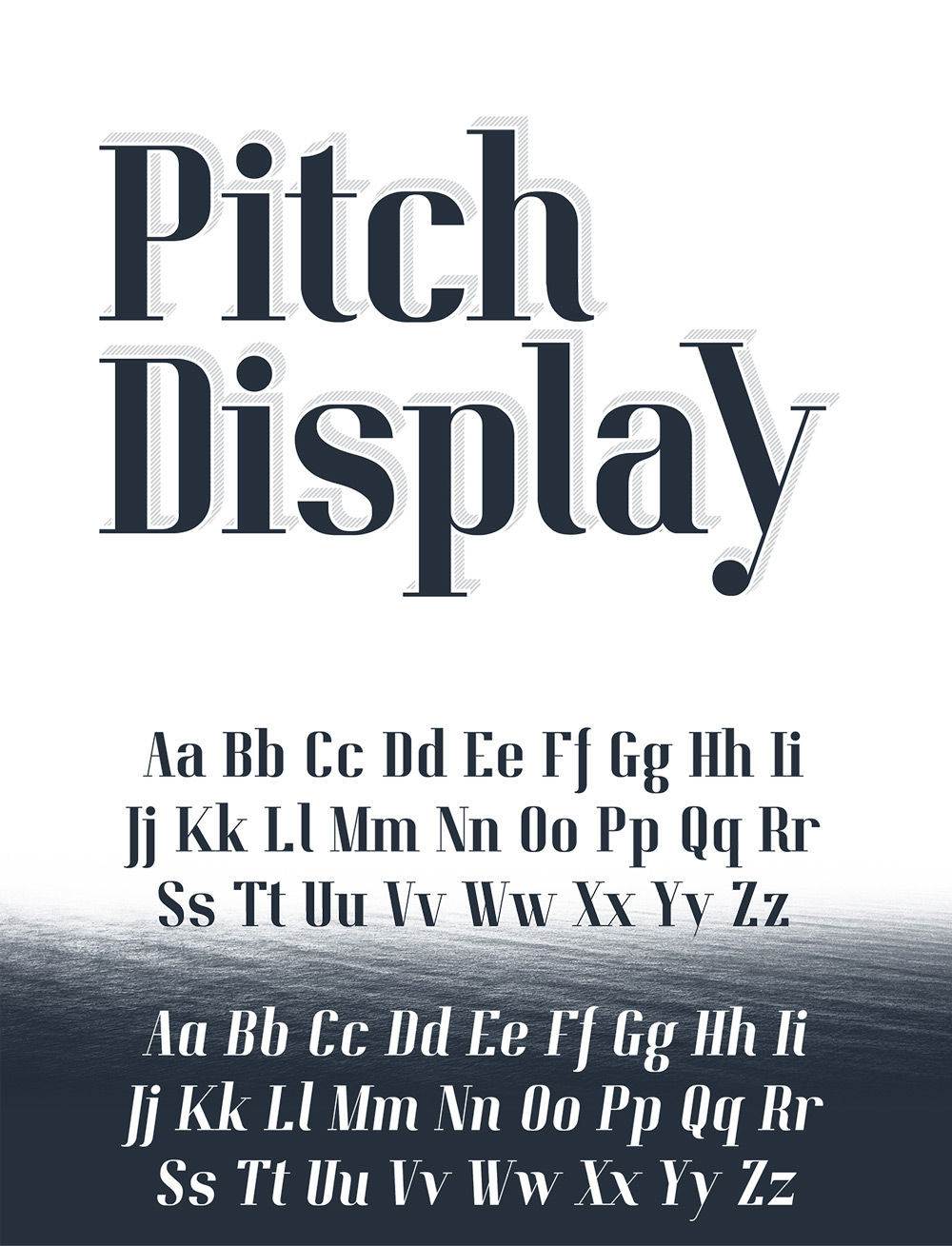 Pitch-Display-Font