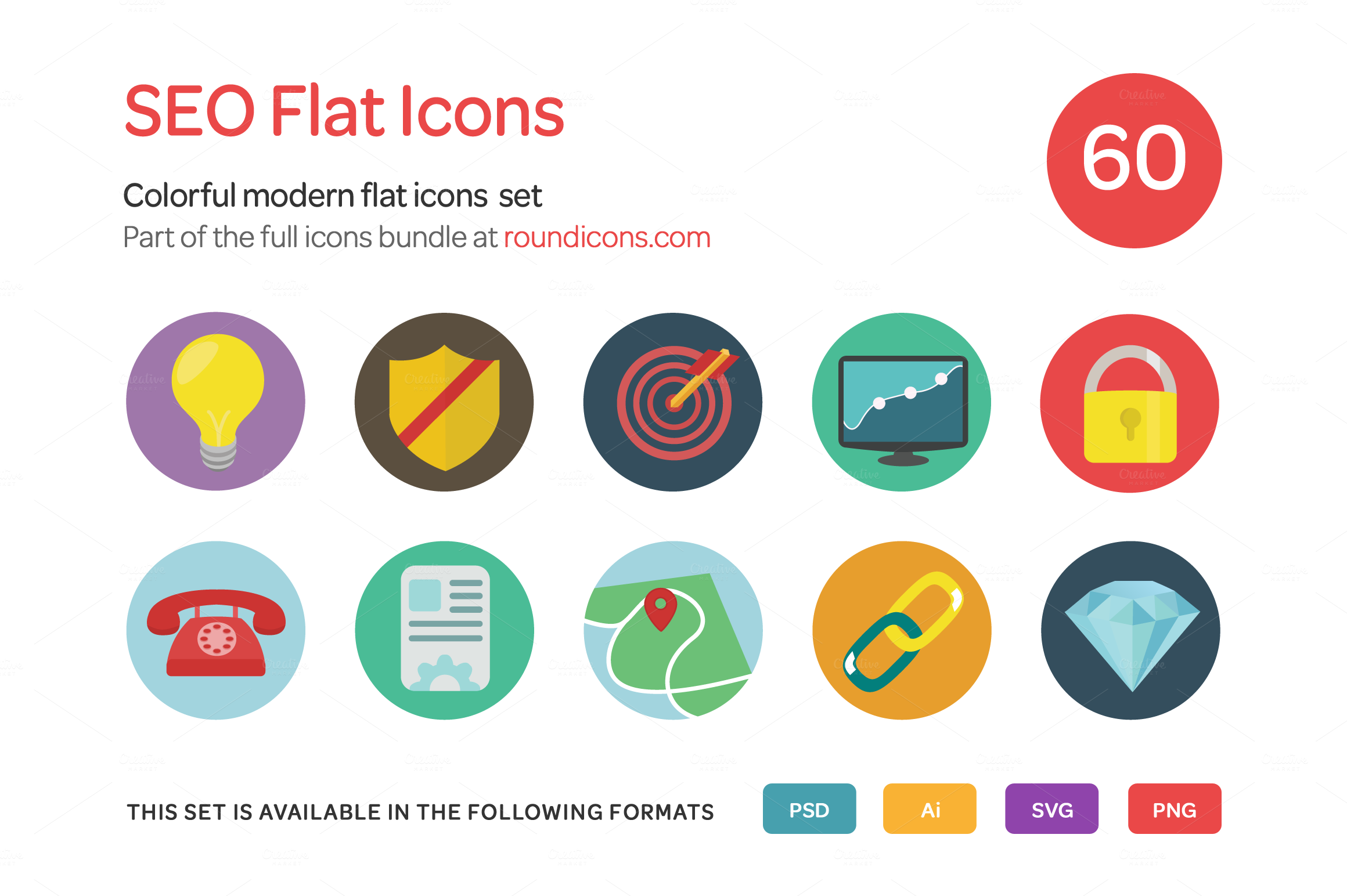 SEO-Flat-Icons-Set