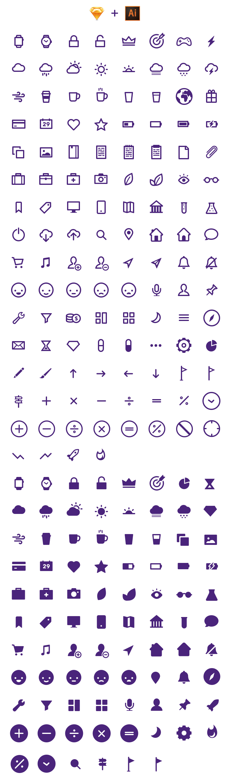Smartwatch-Icons