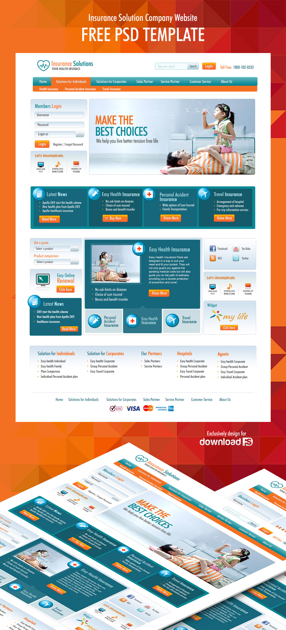 insurance-solution-company-website-free-psd-template