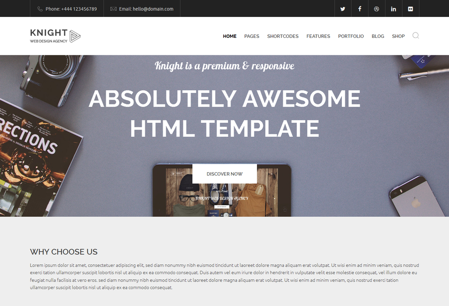 knight-the-multipurpose-html5-template