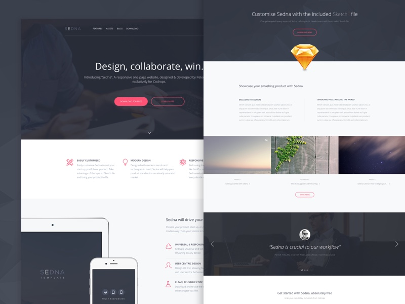 sedna-one-page-website-template