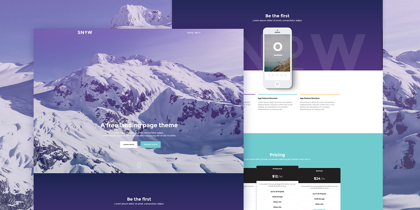 snow-a-free-bootstrap-landing-page-theme
