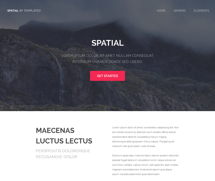 spatial-free-html-website-template