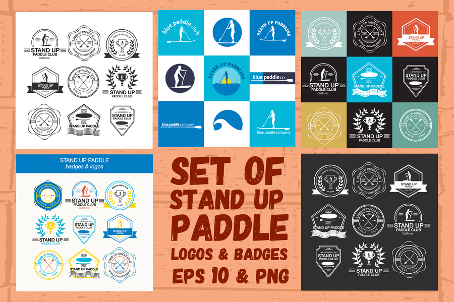 stand-up-paddle-logos-badges-set-2