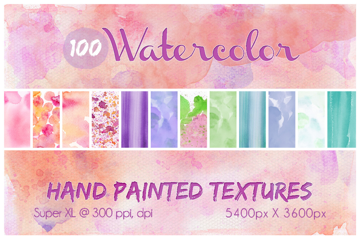 100-Hand-Painted-Watercolor-Textures