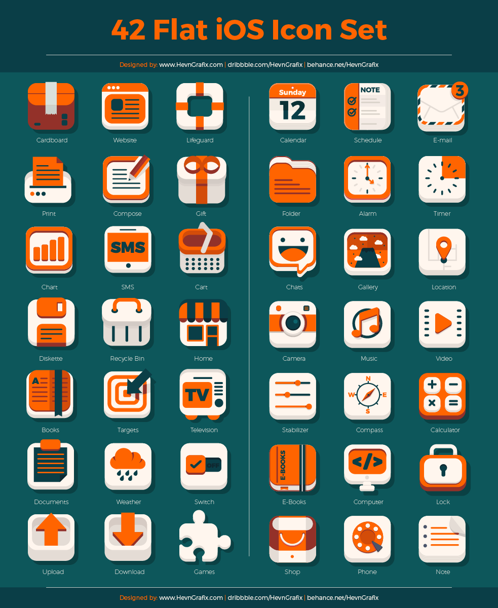42-Flat-iOS-Icon-Set
