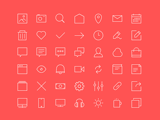 42-free-outline-icons