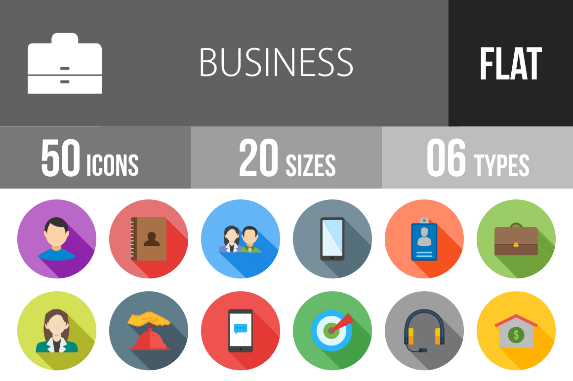 50-Business-Flat-Shadowed-Icons