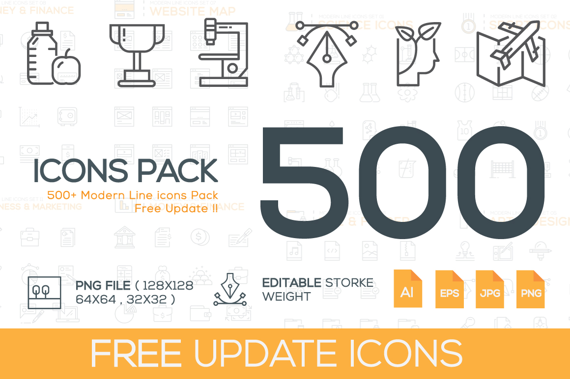 500-Modern-Line-Icons-Pack