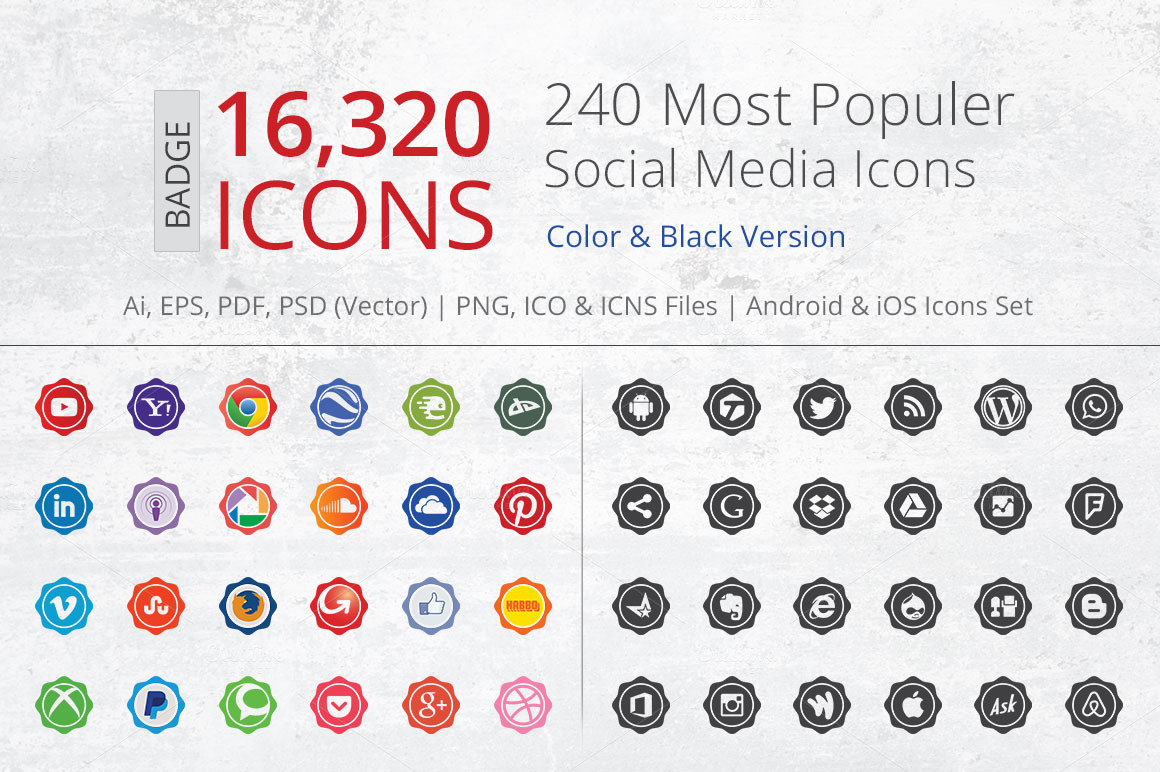 Badge-Social-Media-Icons