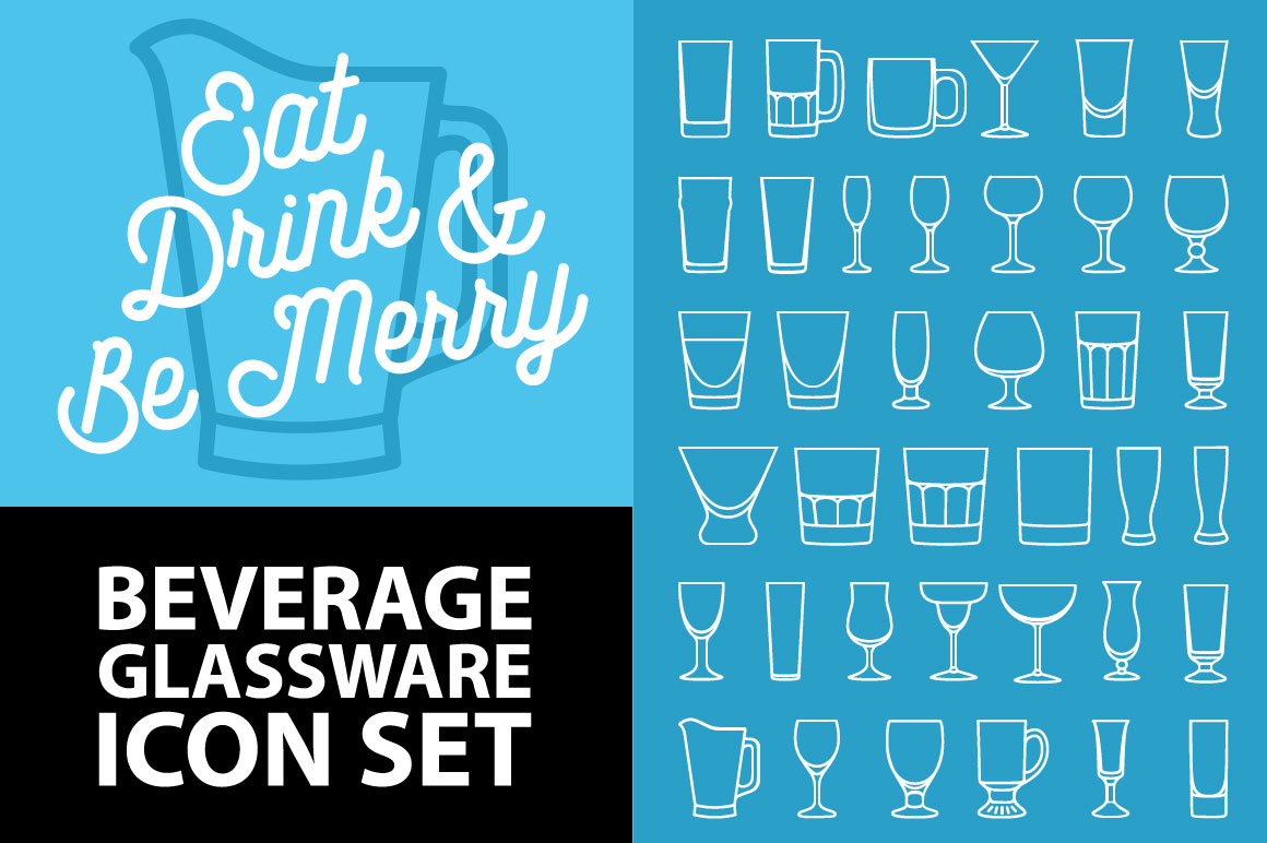 Bar-Beverage-Glassware-Icons