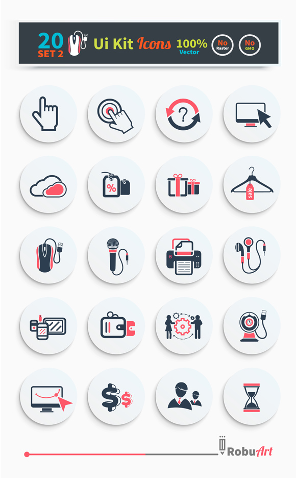 Collection of business, shopping icons such as devices, tag, sticker, basket in black color isolated on white background. Stylish ui kit concept set