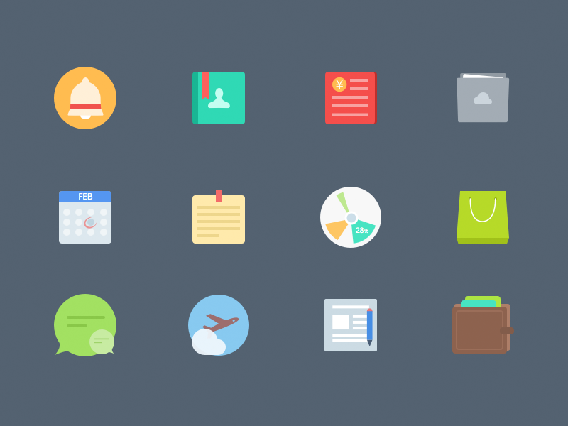Free-Colorful-Flat-icons-by-sketch