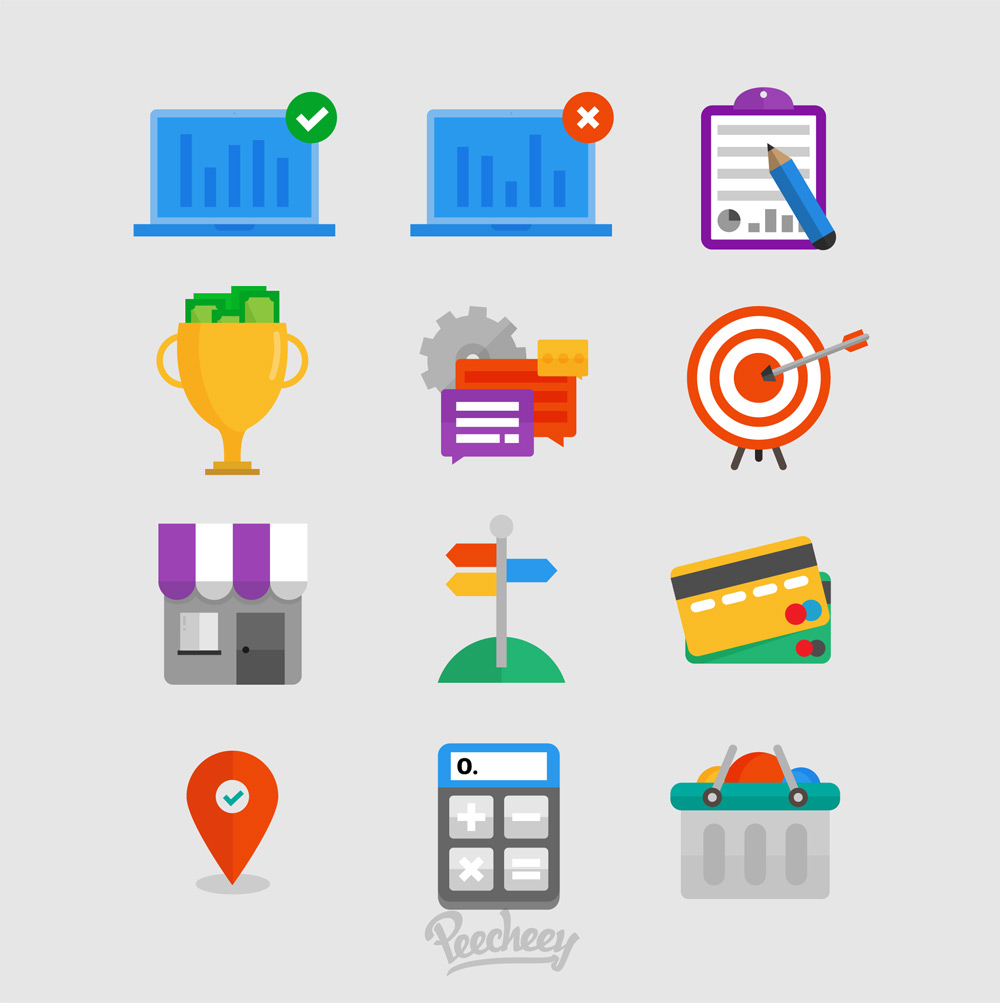 Free-Flat-Business-icons