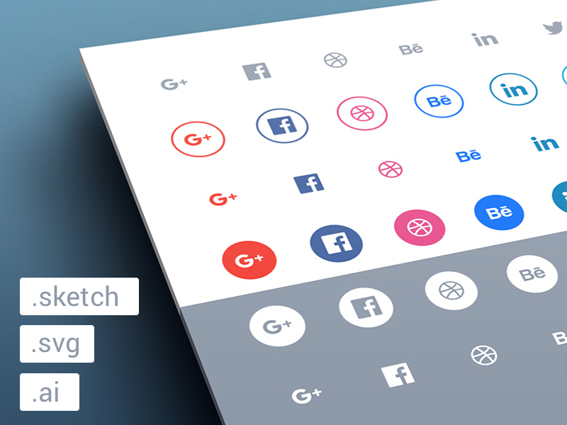 Freebies-Social-flat-icons-set