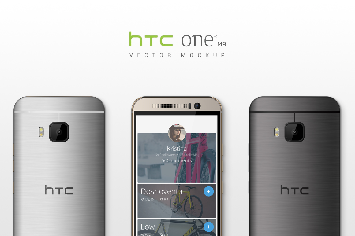 HTC-One-M9-Vector-MockUp