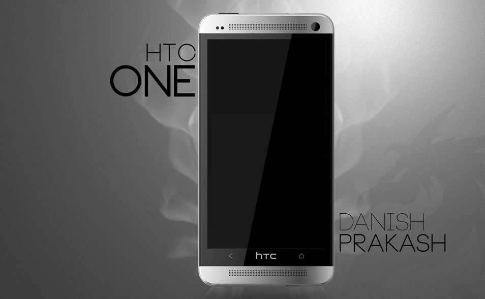 HTC-One-white-PSD