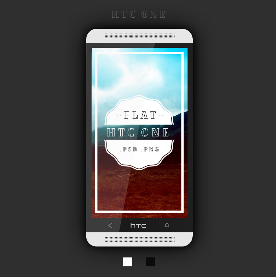 Htc-One-Flat-PSD
