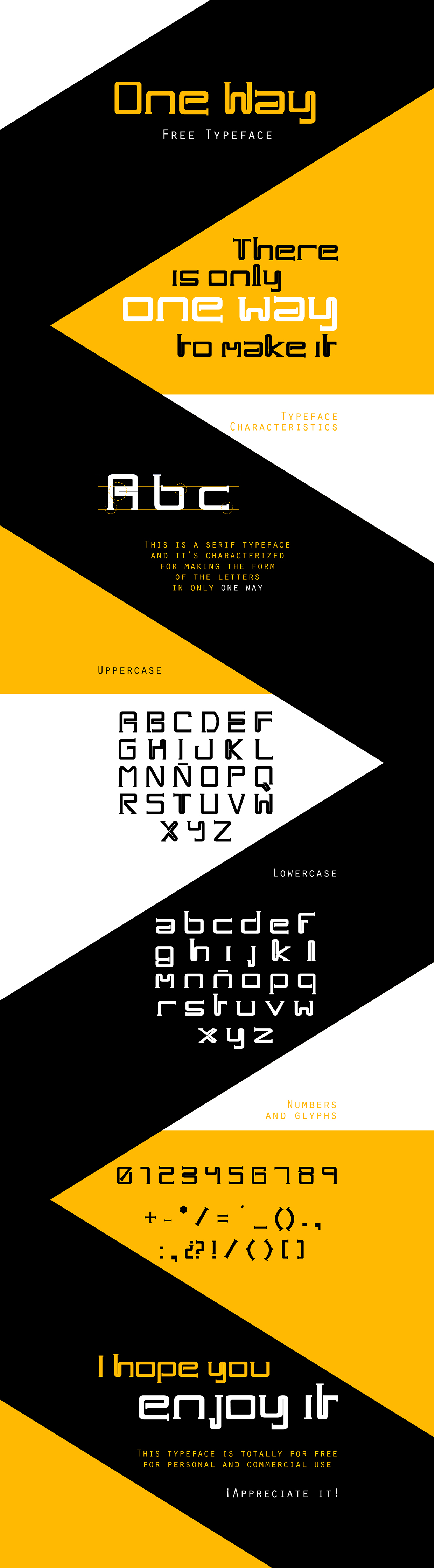 One-Way-Typeface