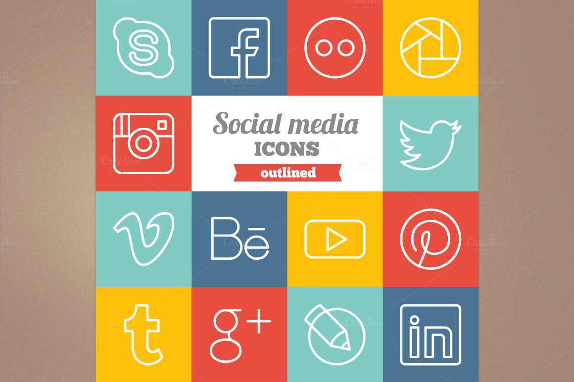Outlined-social-media-icons