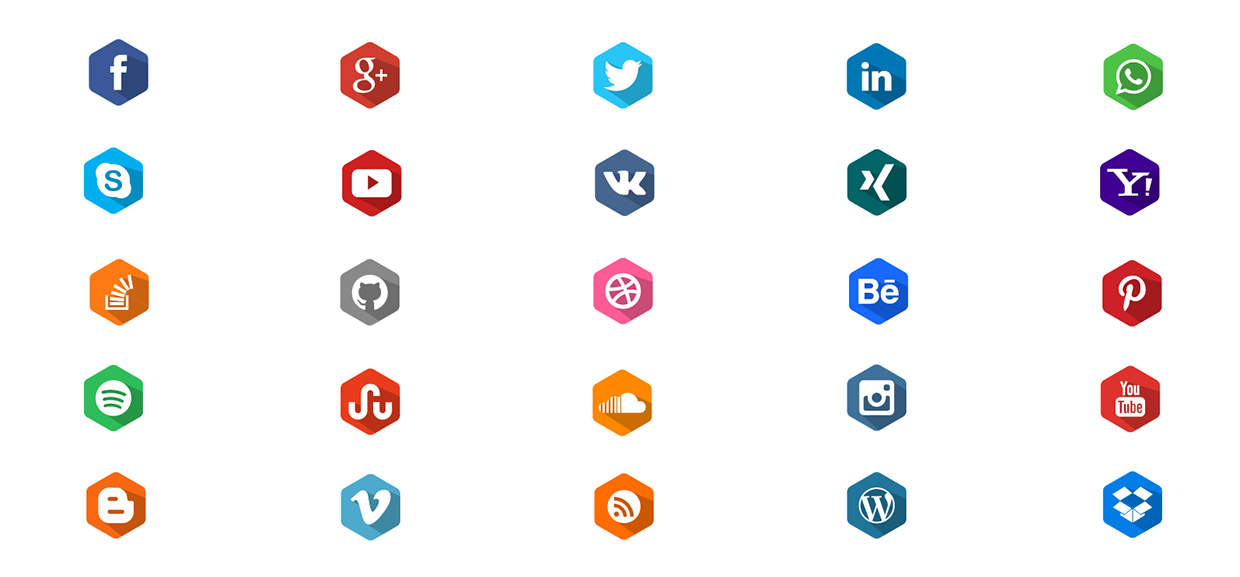 Social-Media-Long-Shadow-Flat-Icons
