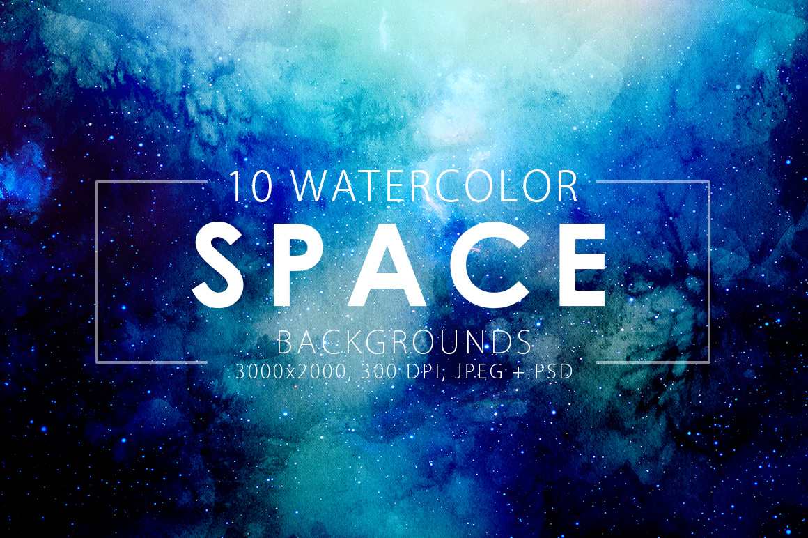 Space-Watercolor-Backgrounds