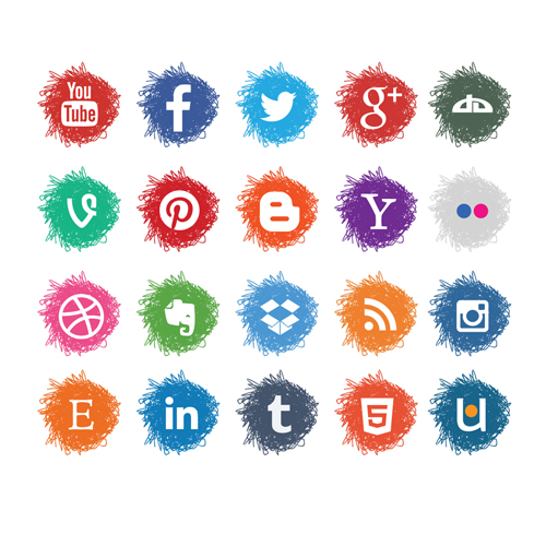 Vector-Sketch-Social-Media-Icons-Set