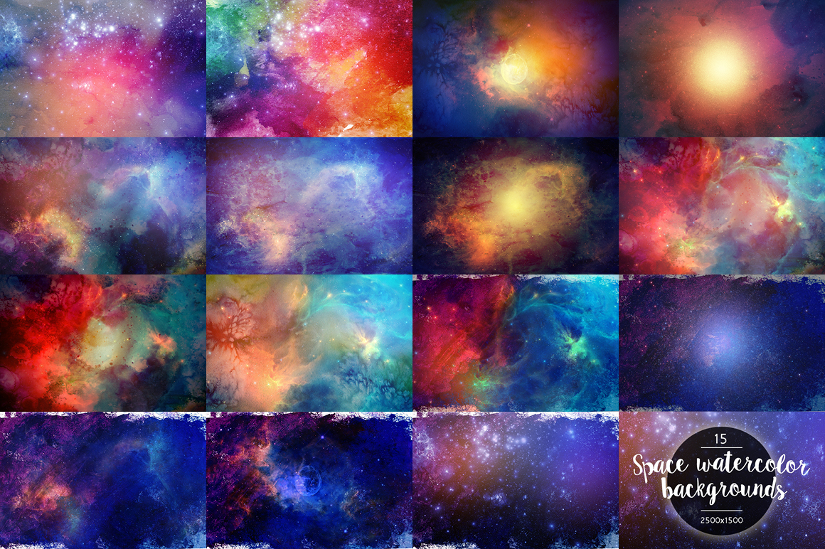 Watercolor-Space-Backgrounds