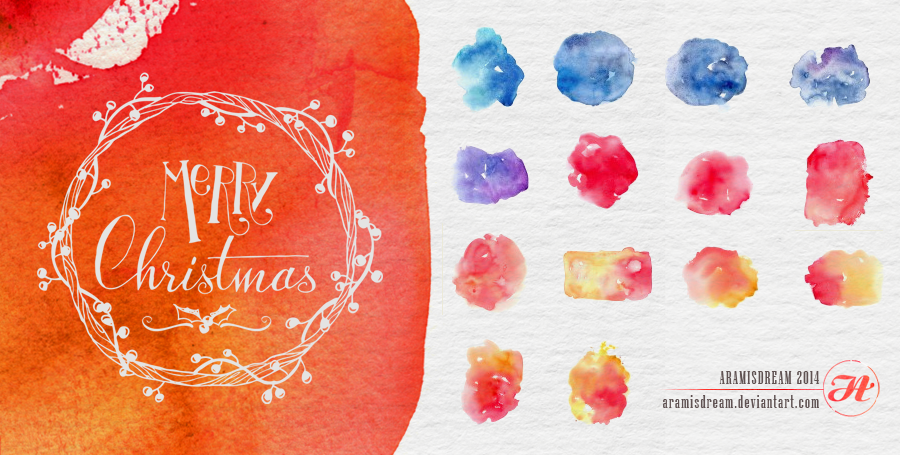 Watercolors-Christmas-Textures