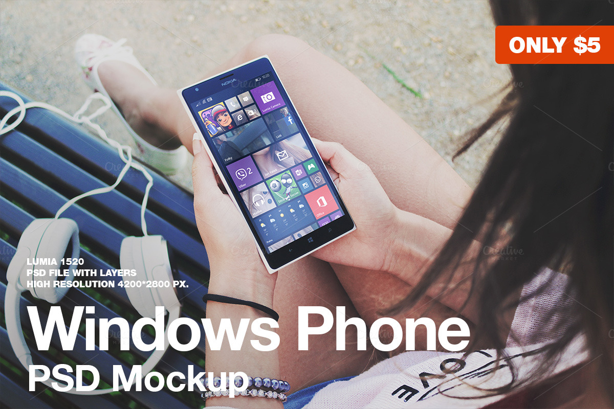 Windows-Phone-PSD-Mockup