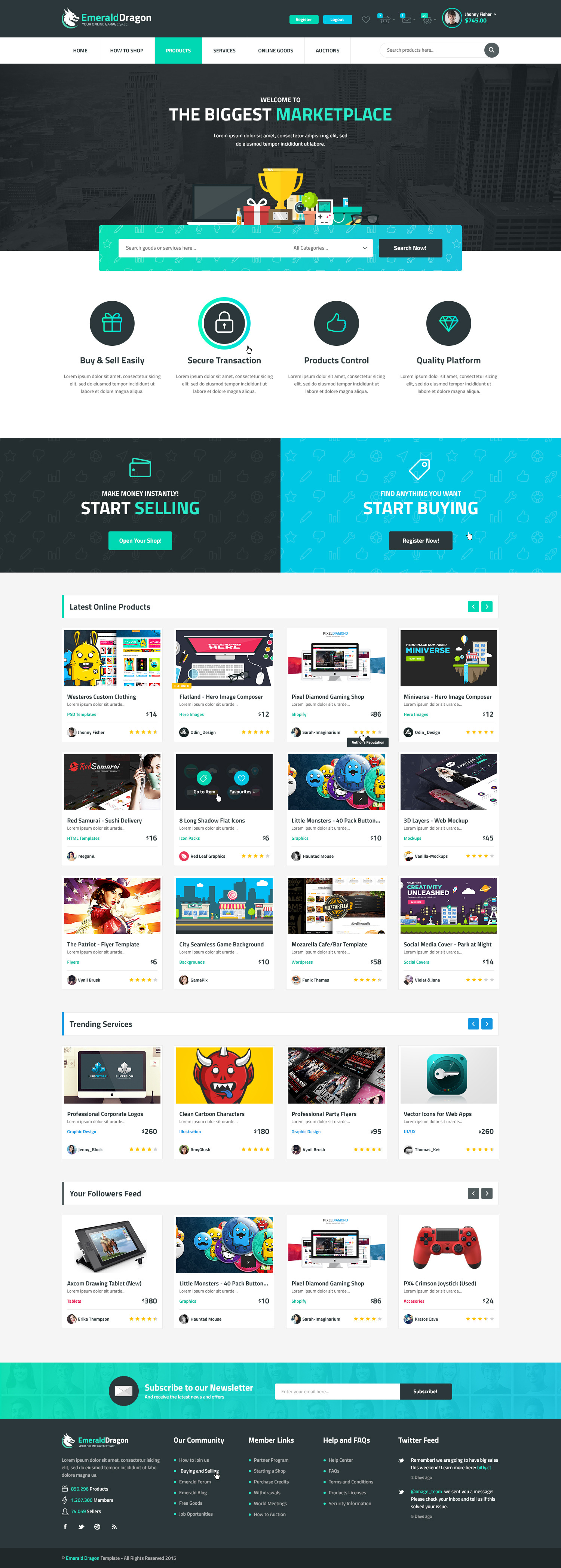 emerald-dragon-psd-multipurpose-marketplace