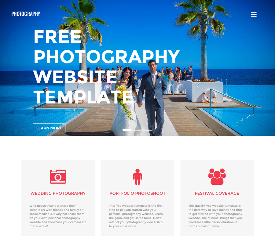 free photography website templates - 10 latest free html5 website templates september 2015