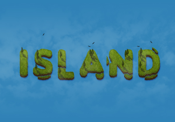 island-text-effect-in-adobe-photoshop